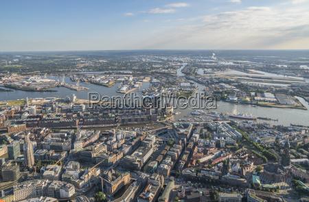 germany hamburgo vista aerea do centro