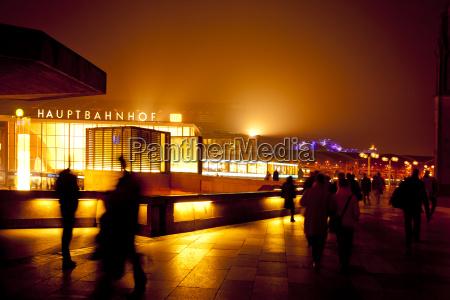 germania colonia stazione centrale di notte