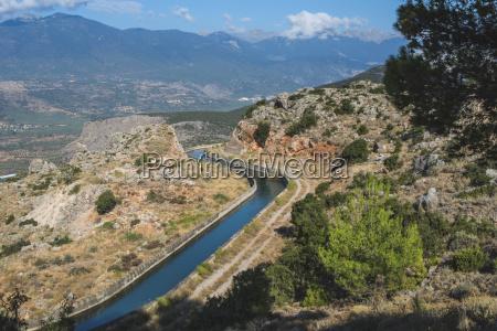 grecia delphi vista para o canal