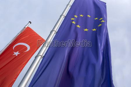bandeira turca e da ue