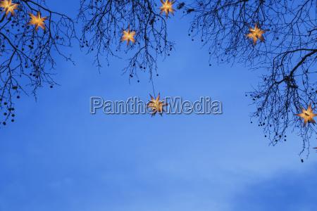 inverno romantico advento noite ceu da