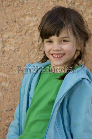 germany tuebingen portrait of girl smiling