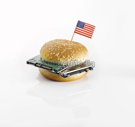 pao americano decorado decoracao alimento refeicao