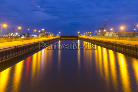 germany bremerhaven closed lock in the