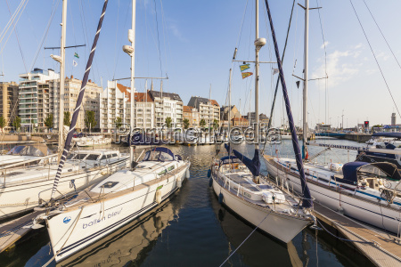 belgium ostende sailing boats at the