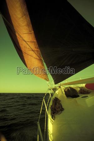 sailboat no mar close up