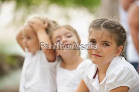 usa texas three girls playing outdoor