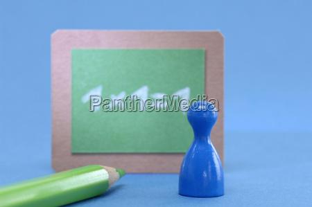 azul tabela educacao verde lousa vista