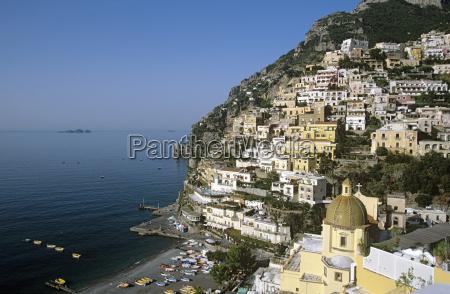 italia positano vista para costa amalfi