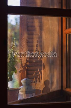 janela grecia nascer do sol luz