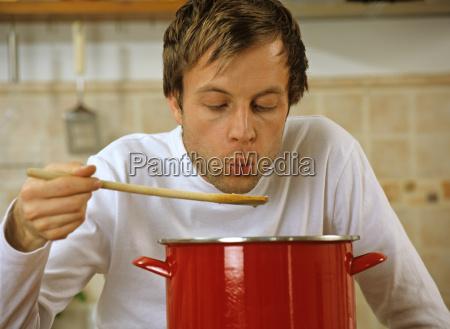 alimento caucasiano europeu horizontalmente cozinha cozinheiros