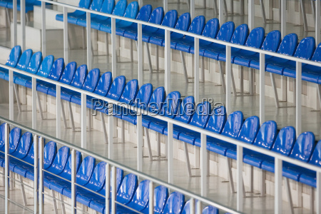 seatings no estadio desportivo close up