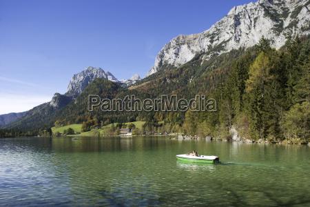 germany bavaria boat in lake