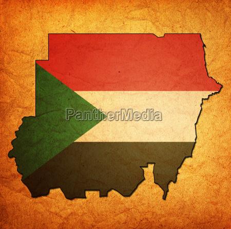 territorio do sudao com bandeira