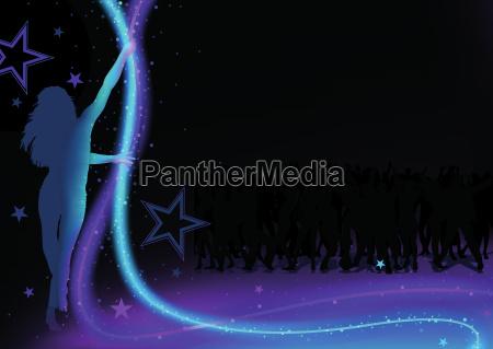 fundo do partido de danca