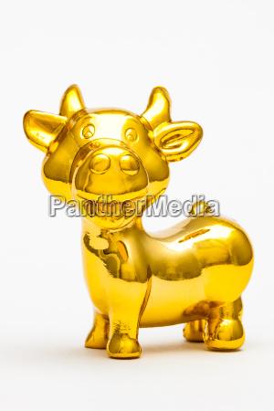 liberado animal estatua touro brinquedo dourado