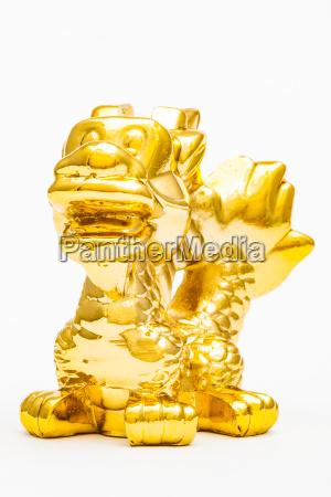 liberado animal estatua brinquedo dourado metal