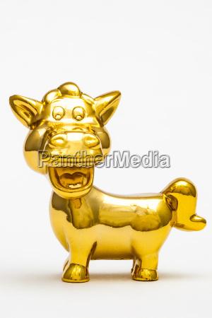 liberado cavalo animal estatua brinquedo dourado