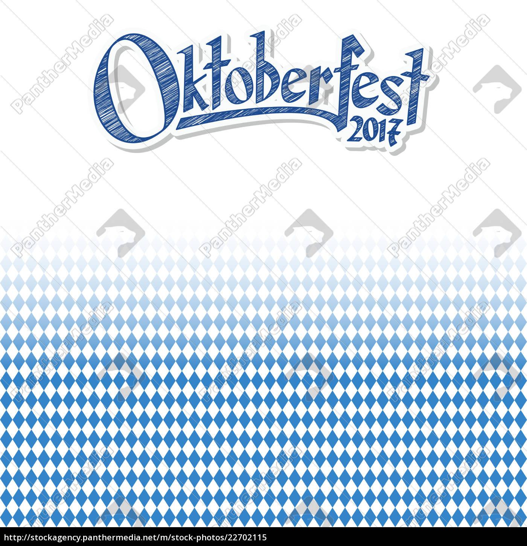 fundo, de, oktoberfest, com, teste, padrão - 22702115