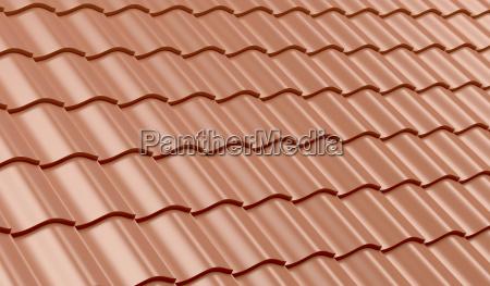 telhas de telhado da argila vermelha