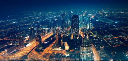 vista panoramico da cidade de dubai