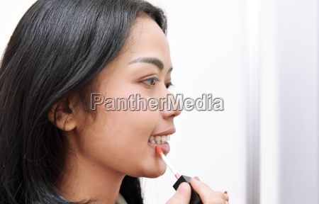 mujer risilla sonrisas mano hermoso bueno