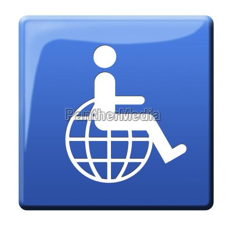 sinal cadeira de rodas liberado opcional