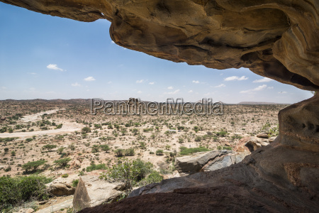 view over the desert from the