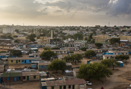 view over hargeisa somaliland somalia africa