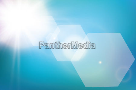 abstract bright shining sun with lens