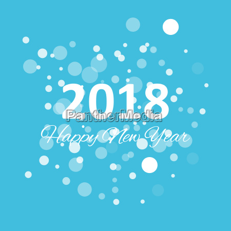 happy new year 2018 with snowflake