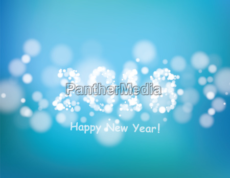 happy new year 2018 with bokeh