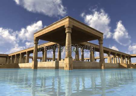 3d rendering egyptian palace