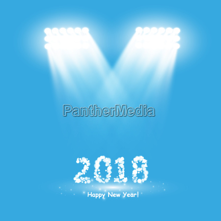 christmas party poster happy 2018 new