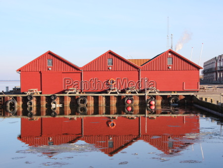 cidade inverno reflexao europa porto dinamarca