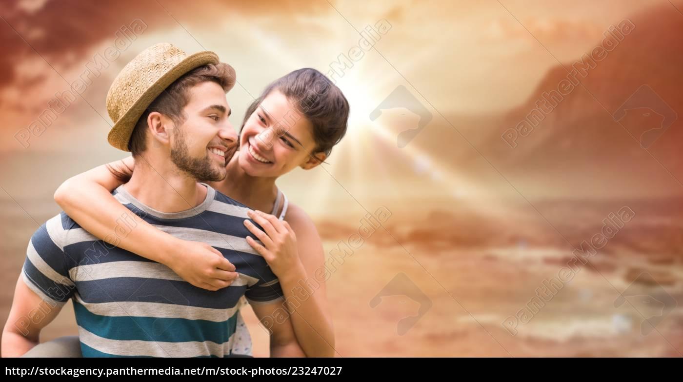 homem, feliz, que, dá, o, passeio - 23247027