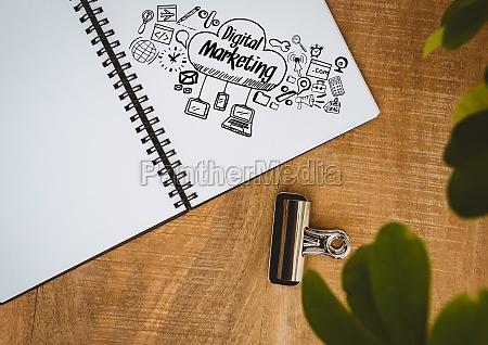 escritorio estrategia secretaria folha grafico local