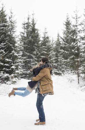 happy young couple having fun in