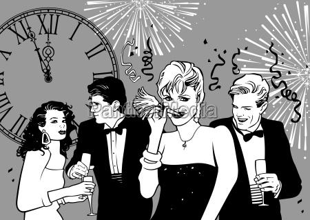 partido do ano novo feliz