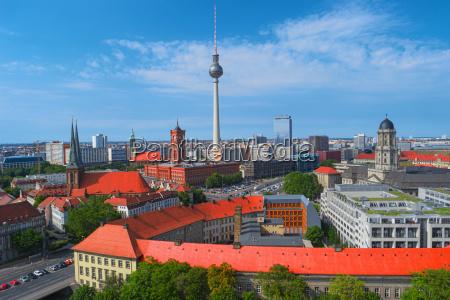 skyline da cidade de berlim alemanha