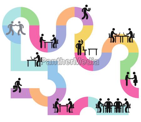 escritorio estrategia consulta com sucesso bem