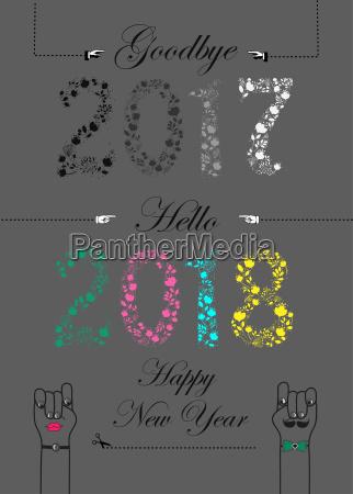 adeus 2017 ola 2018 feliz ano