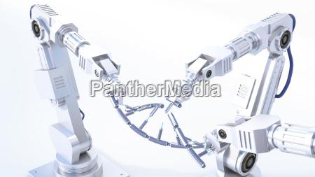 rendering 3d braccia robot che riparano