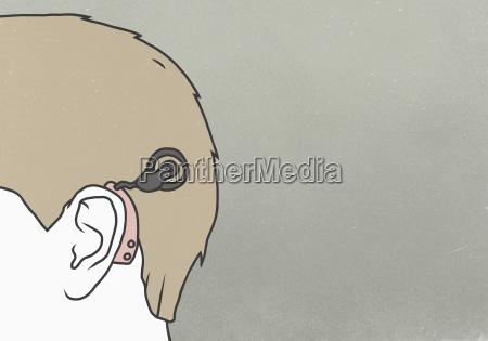 homens homem planta implantado horizontalmente ilustracao
