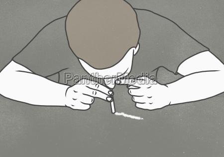 perigo homens homem coque droga inclinacao