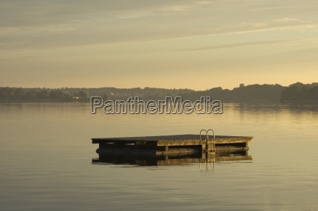 sol, da, manhã, no, lago, chiemsee - 23795544