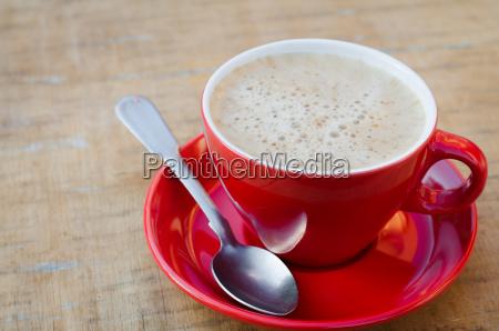 copo vermelho do cafe ou do