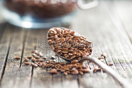 alimento marrom semente linho bronzeado linhaca