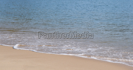 azul pedra praia beira mar da