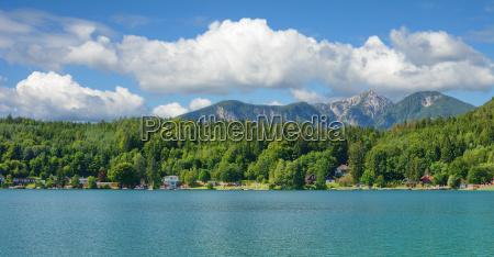 vista panoramico sobre o lago klopeiner